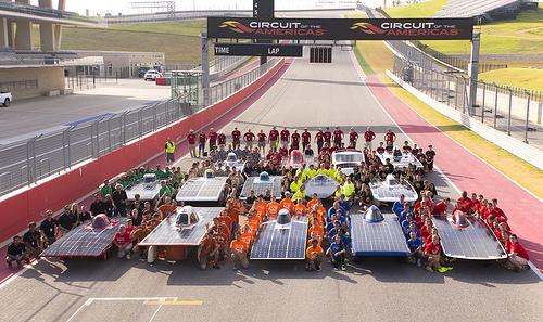 UT Solar Vehicles Team at Formula Sun Grand Prix 2015