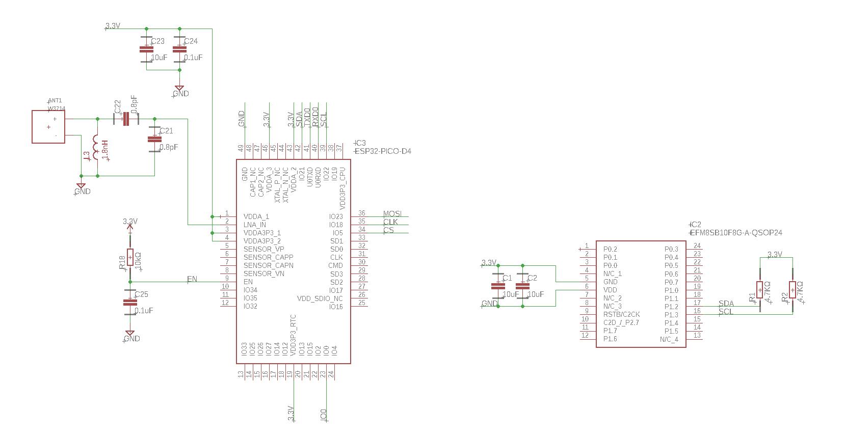 EFM8SB to ESP32 via I2C not working