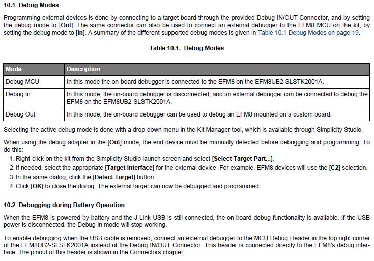 Using the C2D/C2CK Debug interface on a Segger EFM8UB2 ... on