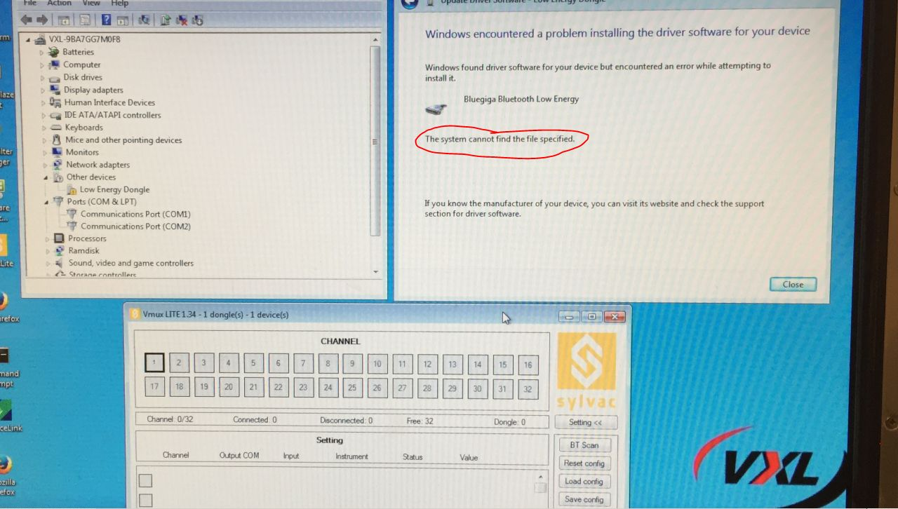 Windows Embedded Standard 7) drivers for BLED112 bluetooth