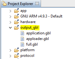 output_gbl folder in project tree