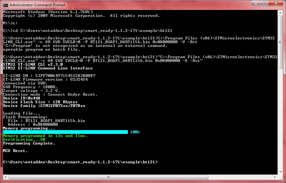 Programming the BT121
